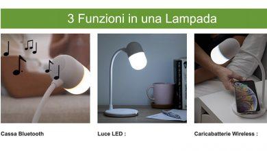 Lampada Wireless da Tavolo 3 in 1: Musica + Ricarica + Luce Led?